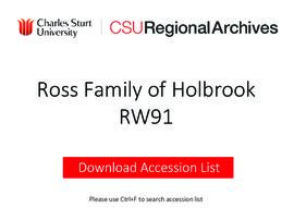 Ross Family of Holbrook