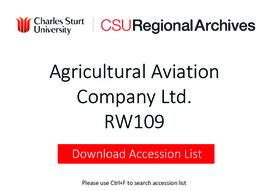 Agricultural Aviation Co. Ltd.