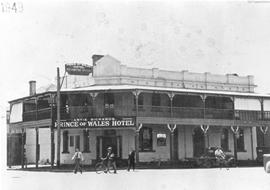 Photograph of Prince of Wales Hotel on the corner of Fitzmaurice and Kincaid Streets, Wagga Wagga...