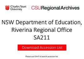 NSW Department of Education, Riverina Regional Office