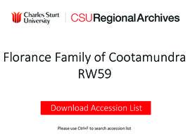 Florance Family of Cootamundra