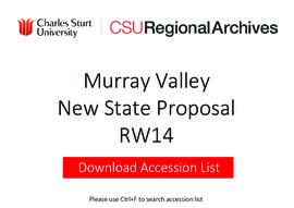 Murray Valley New State Proposal