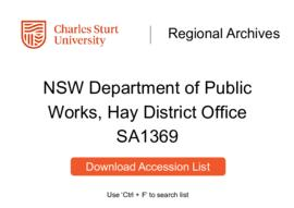 NSW Department of Public Works, Hay District Office