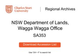 NSW Department of Lands, Wagga Wagga Office