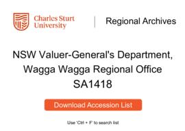 NSW Valuer-General's Department, Wagga Wagga Regional Office