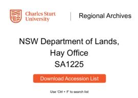 NSW Department of Lands, Hay Office