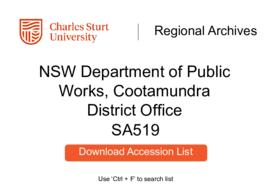 NSW Department of Public Works, Cootamundra District Office