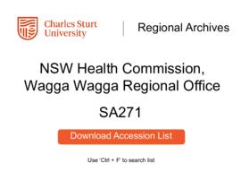 NSW Health Commission, Wagga Wagga Regional Office