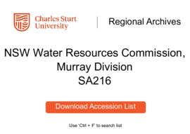 NSW Water Resources Commission, Murray Division
