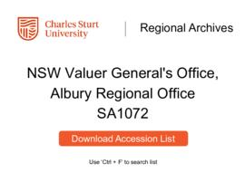 NSW Valuer General's Department, Albury Regional Office