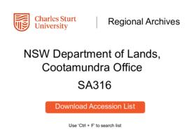 NSW Department of Lands, Cootamundra Office