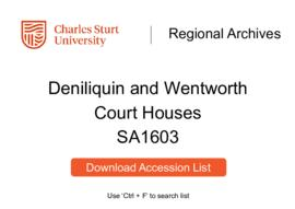 Deniliquin and Wentworth Court Houses