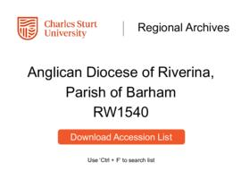 Anglican Diocese of Riverina, Parish of Barham