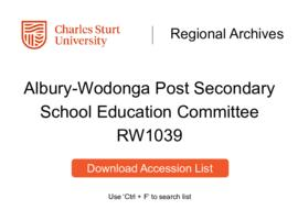 Albury-Wodonga Post Secondary School Education Committee