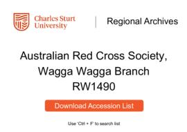 Australian Red Cross Society, Wagga Wagga Branch