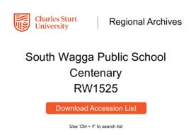 South Wagga Public School Centenary