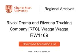Rivcol Drama and Riverina Trucking Company