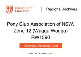 Pony Club Association of NSW, Zone 12 (Wagga Wagga)