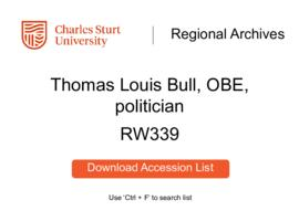 Thomas Louis Bull, politician