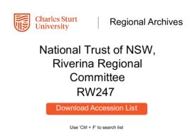 National Trust of Australia (NSW), Riverina Regional Committee