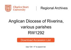 Anglican Diocese of Riverina, various parishes