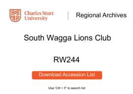 South Wagga Lions Club