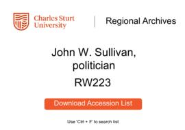 John W. Sullivan, politician