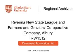 Riverina New State League; Farmers and Graziers' Co-operative Company, Albury