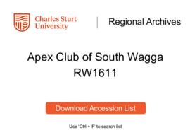 Apex Club of South Wagga