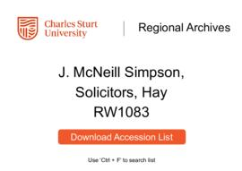 J. McNeill Simpson, solicitor of Hay