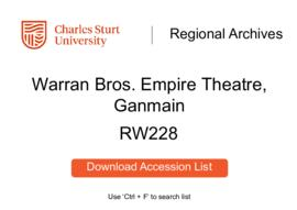 Warran Bros. Empire Theatre, Ganmain
