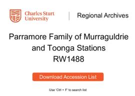 Parramore Family of Murraguldrie and Toonga Stations