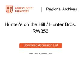 Hunter's on the Hill / Hunter Bros., general goods and newsagency