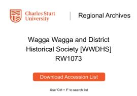 Wagga Wagga and District Historical Society [WWDHS]