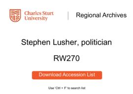 Stephen Lusher, politician