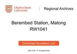 Berembed Station, Matong