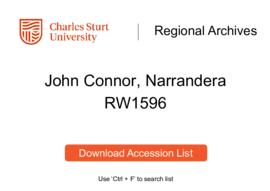 John Connor, Narrandera
