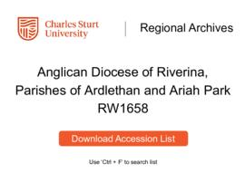 Anglican Diocese of Riverina, Parishes of Ardlethan and Ariah Park