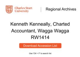 Kenneth Kenneally of Wagga Wagga