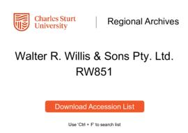 Walter R. Willis & Sons Pty. Ltd., brick manufacturers