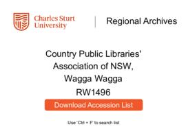 Country Public Libraries' Association of NSW, Wagga Wagga