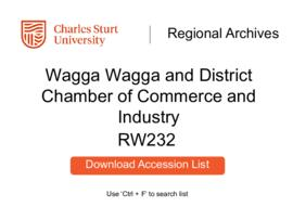 Wagga Wagga and District Chamber of Commerce and Industry