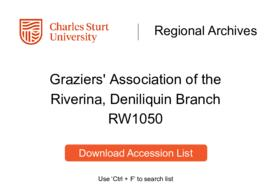 Graziers' Association of the Riverina, Deniliquin Branch