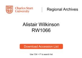 Alistair Wilkinson, historian