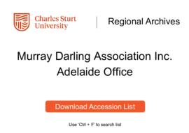 Murray Darling Association Inc., Adelaide Office