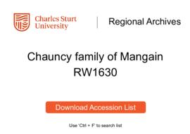 Chauncy family of Mangain