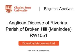 Anglican Diocese of Riverina, Parish of Broken Hill