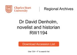 Dr David Denholm, novelist and historian
