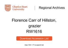Florence Carr of Hillston, grazier
