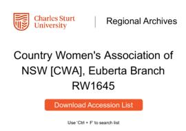 Country Women's Association of NSW [CWA], Euberta Branch